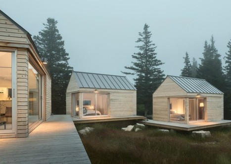 Three-in-one Maine cabins take separate bedrooms to a whole new level | Designed for Form and Function ....Chairs and Other Objects | Scoop.it