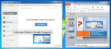 How To Present PowerPoint Presentations Using Google Hangouts | Create, Innovate & Evaluate in Higher Education | Scoop.it