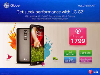 LG G2 is FREE at Globe Plan 1799 with Unlimited LTE Surfing « TechConnectPH   MyNewscoop   Scoop.it