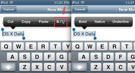 Add Bold, Underline, & Italics to Stylize Text in iOS Mail | Thoughtful Tech | Scoop.it