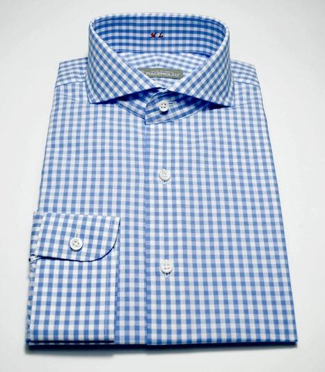 Tailored shirt pure cotton 2-ply Pinpoint Check White all season; color Light Blue.  | Camicie uomo su misura....consigli, curiosità e molto altro | Scoop.it