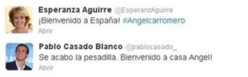 Fascistas del PP español dan la bienvenida a Carromero en Twitter ... | Partido Popular, una visión crítica | Scoop.it