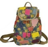 Retro ripped patch denim backpack womens | personalized canvas messenger bags and backpack | Scoop.it
