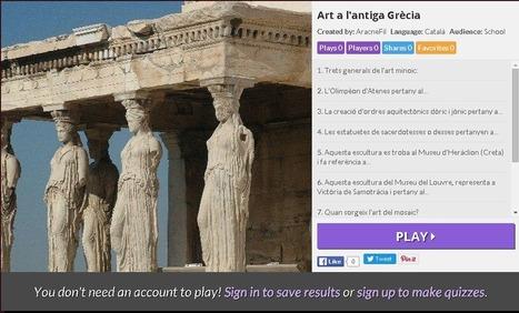 Kahoot d'art a l'antiga Grècia | Aracne fila i fila | Griego clásico | Scoop.it