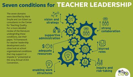 7 Qualities That Promote Teacher Leadership in Schools   Innovation Disruption in Education   Scoop.it