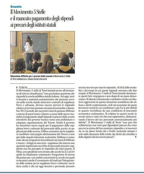 Corriere dell'Umbria - 09/04/13 | Rassegna Stampa - M5S Terni | Scoop.it
