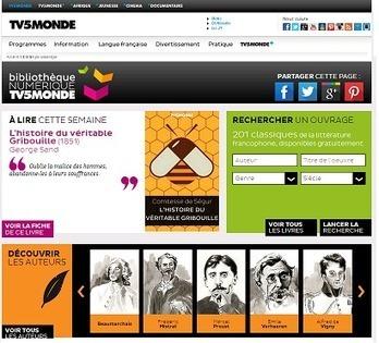 TV5 Monde lance sa Bibnumérique   Bibliothèques numériques   Scoop.it