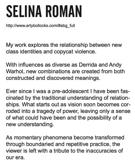 Using Artist Statement Generators to Make Art | Contemporary art by | Scoop.it