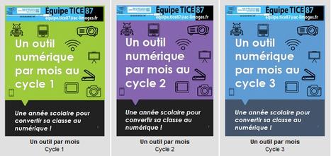 Une année #EcoleNumerique avec 3 livrets - Un outil numérique par mois #cycle1 #cycle2 #cycle3 @EquipeTICE87 | Ressources Ecole | Scoop.it