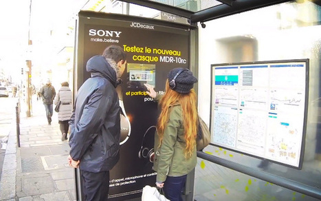 Un blind test inédit version abribus par Sony | Communication | Scoop.it
