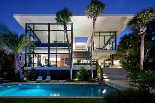 Maison contemporaine coral gables residence par touzet studio miami usa construire tendance - Residence de vacances contemporaine miami ...
