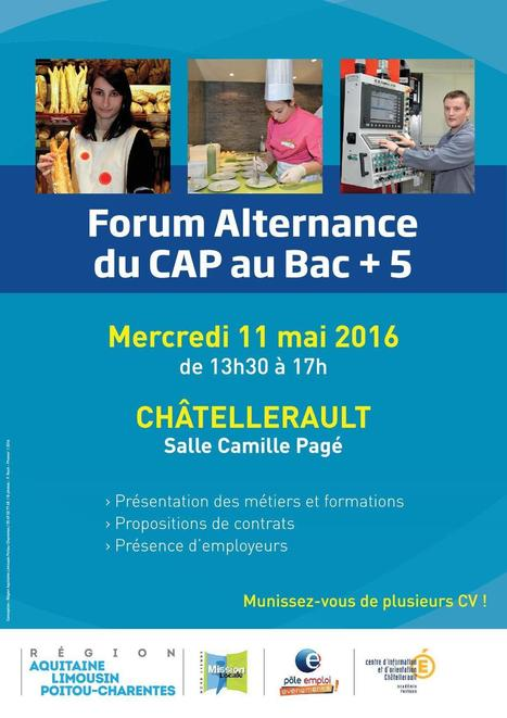 Forum de l'Alternance à #Châtellerault le 11 mai 2016 | Chatellerault, secouez-moi, secouez-moi! | Scoop.it