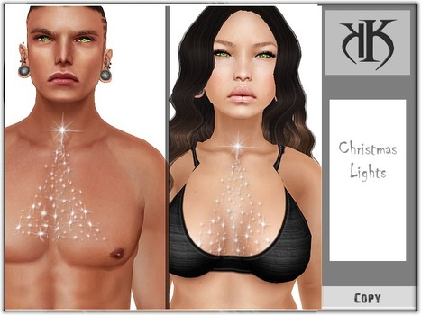 Christmas Chest Lights Tattoo by KK | Teleport Hub - Second Life Freebies | FASHION FOR MEN (FREE) | Scoop.it