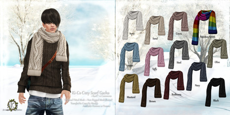 ::K::: ::K:: Ki-Co Cozy Scarf Gacha @ TMD HOLIDAY COLLECTION   Style of LIFE   Scoop.it