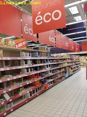 Courses éco : l'espace discount en test chez Carrefour / Les visites guidées / LES MAGASINS - LINEAIRES, le mensuel de la distribution alimentaire | Veille Commerciale | Scoop.it