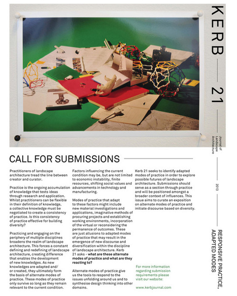 A Daily Dose of Architecture: Kerb 21 Call for Submissions | The Architecture of the City | Scoop.it
