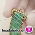 Videos: How to Attach a Ribbon Slide End to Peyote Bead Weaving | Beadaholique | Beadwork | Scoop.it