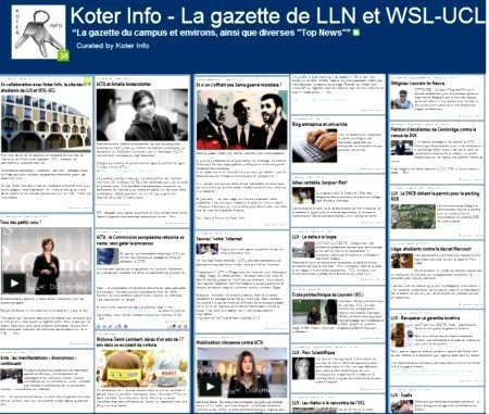 Koter Info - La Gazette | Koter Info - Site de LLN-WSL-UCL, description | Scoop.it