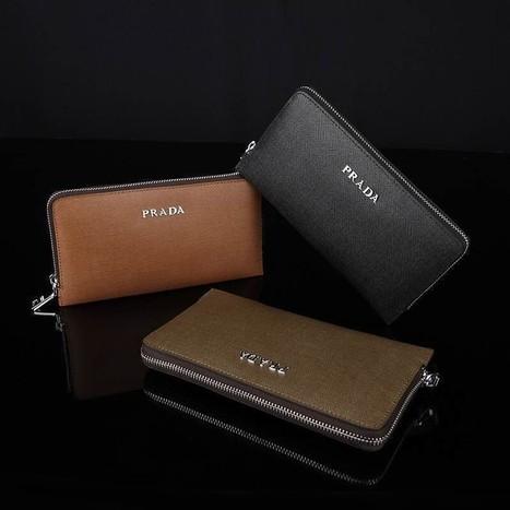 Prada Men's Leather Handbag P2220-2 Concealed Zipper Cell Phone Pocket 21 * 3 * 12cm190 | Designer Bags | Scoop.it