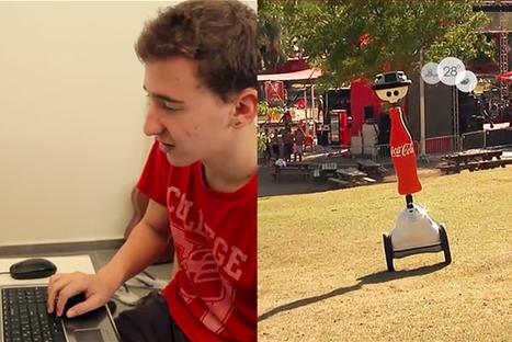 Coca-Cola met au point un robot connecté permettant de faire la fête à distance ! | Geekerie&co | Scoop.it