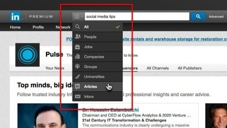 Find Inspiring Influencer Content Directly From LinkedIn's Search Box | Sprout Social | Be Social | Scoop.it
