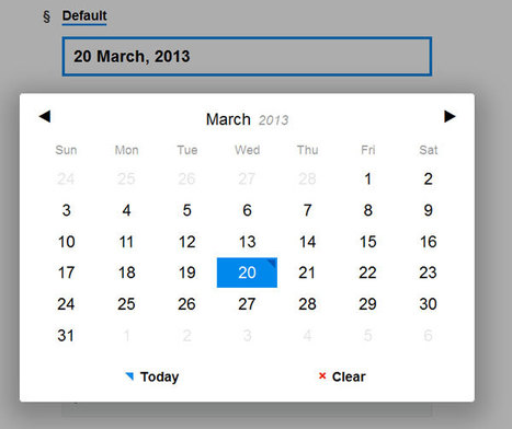 Pickadate.js - A mobile-friendly, responsive, and lightweight jQuery dateinput picker. | Formulaires HTML5, CSS3 & jQuery | Scoop.it