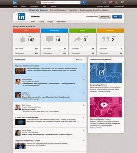 Linkedin lance un nouveau tableau de bord pour les Pages Entreprises - #Arobasenet | Going social | Scoop.it