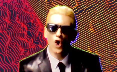 """Watch: Eminem's video for """"Rap God"""", a tribute to Max Headroom ... 