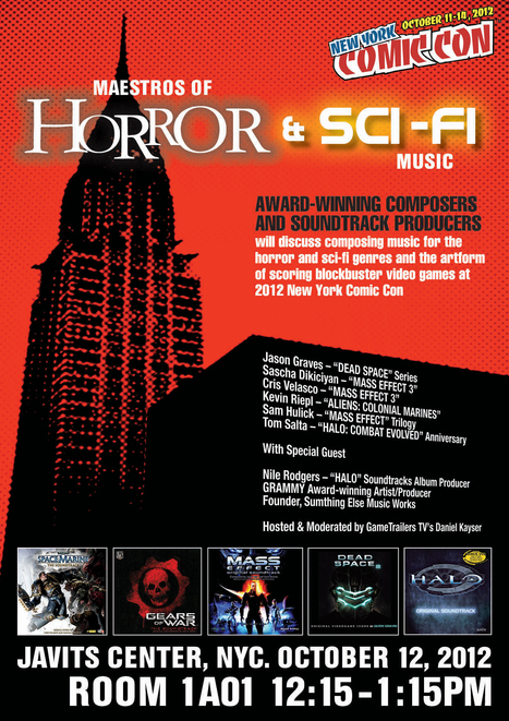 Maestros of Horror & Sci-Fi Music: Coming to New York Comic Con - Gamenguide | FASHION & LIFESTYLE! | Scoop.it