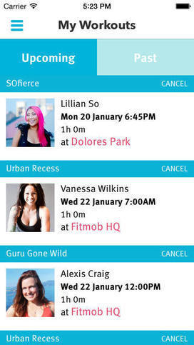 Fitmob: mobile gym alternative | mHealth- Advances, Knowledge and Patient Engagement | Scoop.it