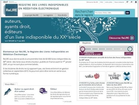 Oeuvres indisponibles : le registre ReLire ouvre ses portes | Libertés Numériques | Scoop.it