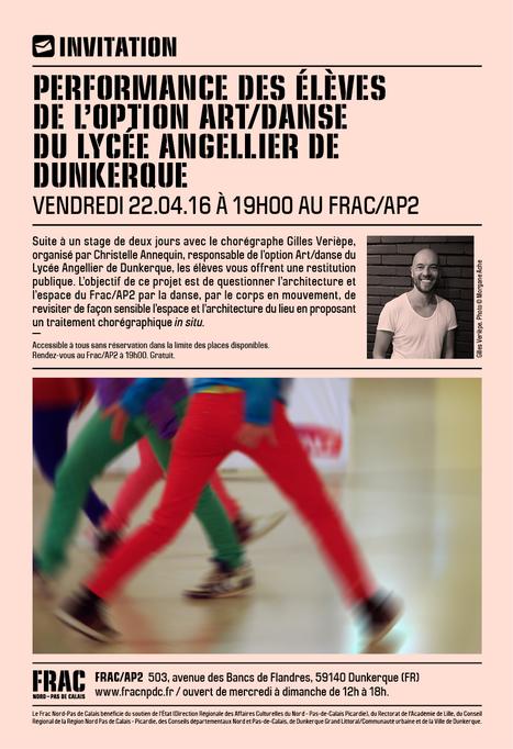 Ce vendredi soir Performance Art Danse au FRAC | Vie culturelle du lycée Angellier Dunkerque | Scoop.it
