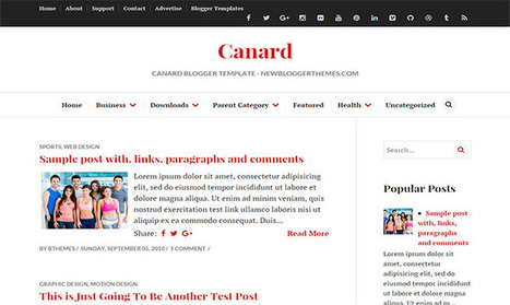 Canard Blogger Template | Blogger themes | Scoop.it