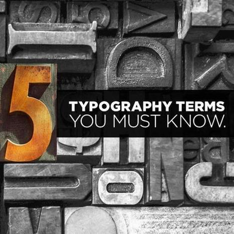 5 Typography Terms You Must Know | Social Media Today | Digital-News on Scoop.it today | Scoop.it