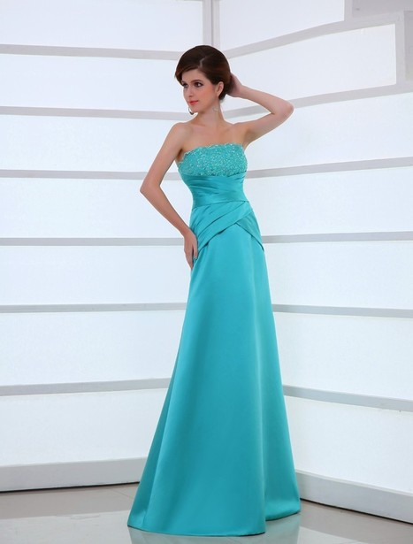 Strapless Floor Length Sleeveless A Line Evening Prom Dress Oho0093 | Fashion Dresses Online | Scoop.it