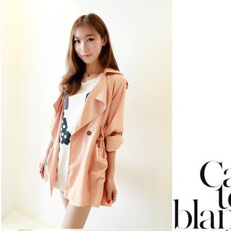 Cheap Korean long sleeve drawstring waist trench coat jacket with liner in women outcoat from women clothing on sightface.com | Cheap women Clothing Online at Sightface | Scoop.it