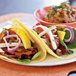 Fiesta Chicken Tacos with Mango and Jicama Salad Recipe - YouChef | Abiye Modelleri | Scoop.it