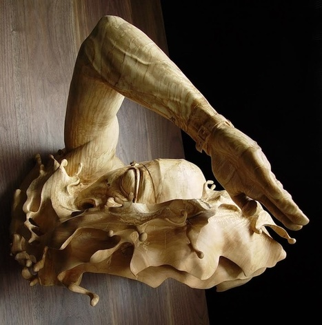Stunning Swimming Sculpture is Carved From a Single Piece of Wood | Aspiring Woodworker | Scoop.it