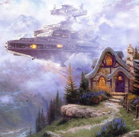 Wars On Kincade – Star Wars invites itself in paintings…   Culture and Fun - Art   Scoop.it