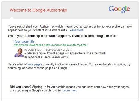 Google Authorship: How to Get Yours! | Social Media for Small Business Owners | Scoop.it