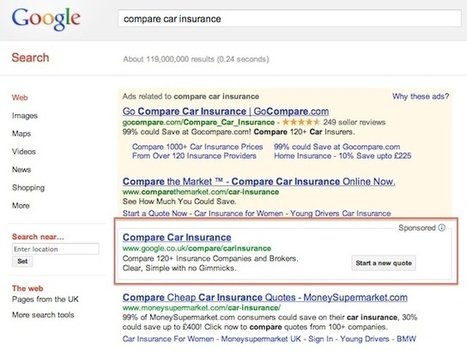 Google impose son comparateur d'assurance auto (UK, DE, FR) | Google et le tourisme | Scoop.it