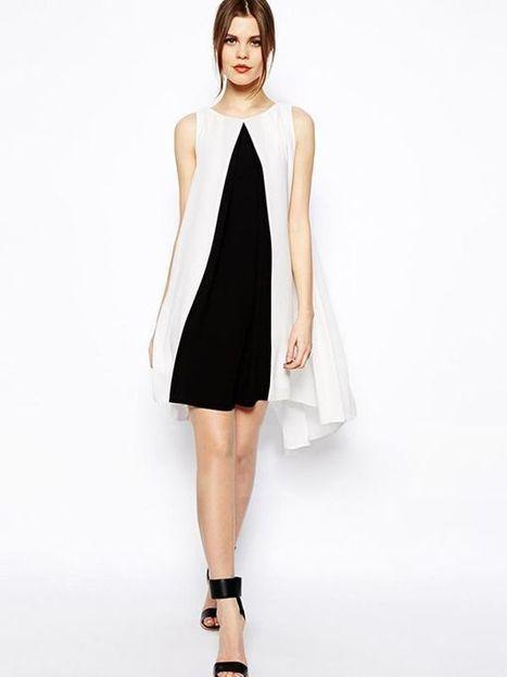 Patchwork A-line Round Neck Knee Length Summer Dress : KissChic.com | Kisschic Fashion Dresses | Scoop.it