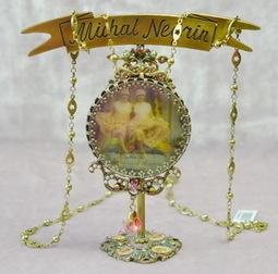 Michal Negrin Vintage 3D Necklace Brass Swarovski Crystal | mygiftsengraved | Scoop.it