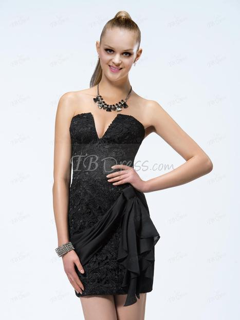 $ 89.29 Sexy Sheath Lace Short-Length Sashes Charming Cocktail Dress Designed Independently | SEXY | Scoop.it