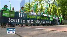 Manifestation nationale des syndicats à Bruxelles - Vidéo - RTL Vidéos   ActuChomage.info   Scoop.it