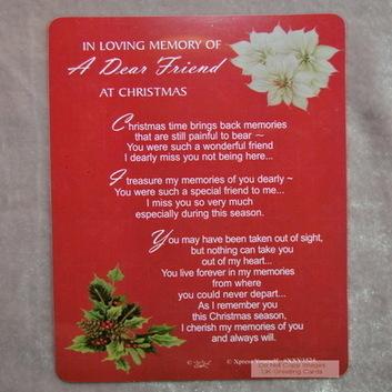 Dear Friend Memorial Christmas | Buy Christmas Cards | Handmade Christmas Cards Online | Scoop.it