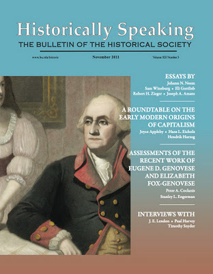 November issue of Historically Speaking | Bloghistosphère | Scoop.it