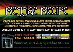 REGGAE RECIPE #2 – 30TH AUGUST @ VALENTINO'S, READING | Business in Berkshire | Scoop.it