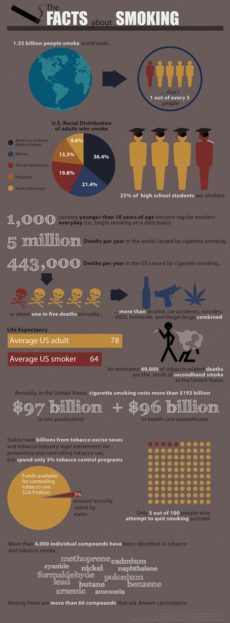 Facts About Smoking - Info-graphic | robbdavis.com | Alcohol and Other Drug Infographics | Scoop.it
