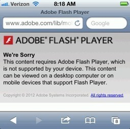 Why the iPad and iPhone not supporting Adobe Flash is a Great thing for mLearning | The m-Learning Revolution Blog | E-Learning and Online Teaching | Scoop.it
